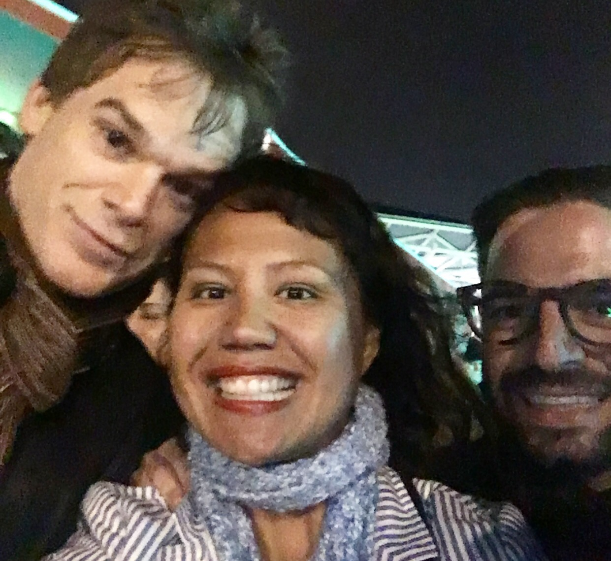 Gratitude for artists it only takes a smile tonight we had the pleasure to meet michael c hall after an amazing performance in lazarus the show was stunning and inspirational m4hsunfo